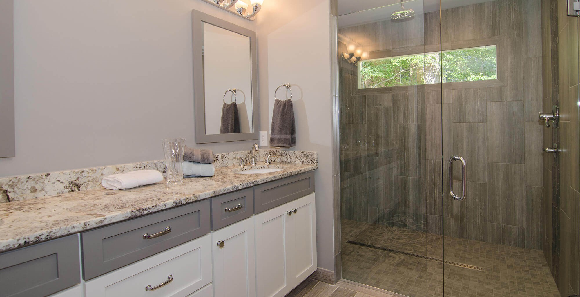 Raleigh NC Home Remodeling Contractor Blue Ribbon Construction - Bathroom cabinets raleigh nc